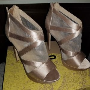 Mix No. 6 Shoes - Mix no. 6 Blush Platform Caged Peep Toe Heels Sz 8